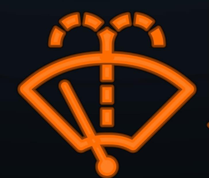 Car dashboard's washer fluid indicator