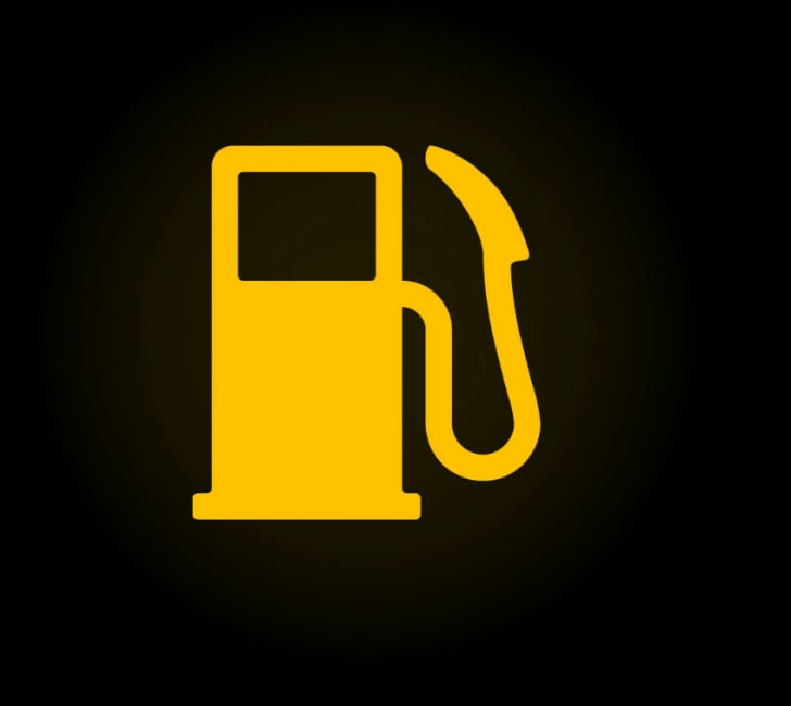 Car dashboard's fuel indicator