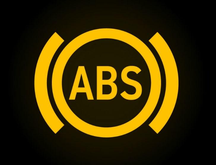 Car dashboard's antilock brake warning