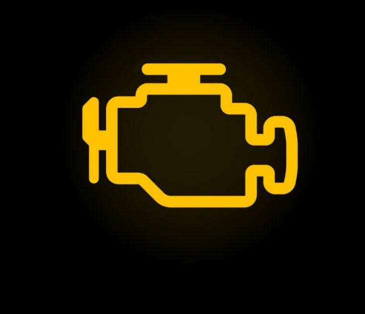 Car dashboard's engine warning