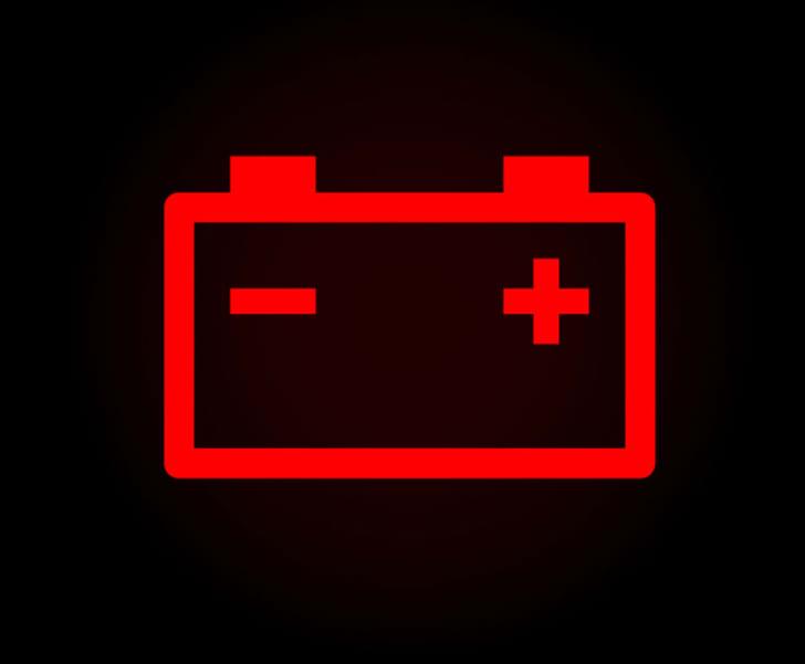 Car dashboard's battery alert