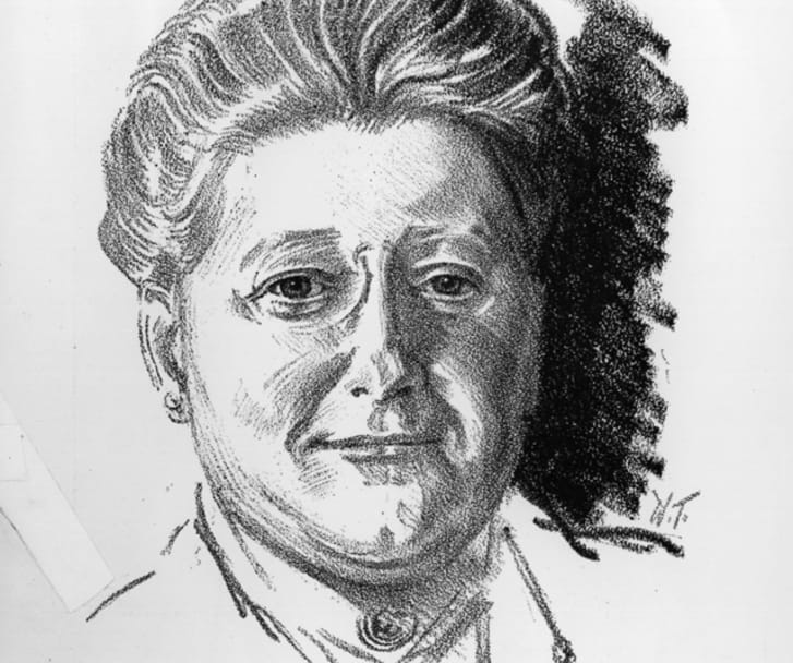 An illustration of Amy Lowell