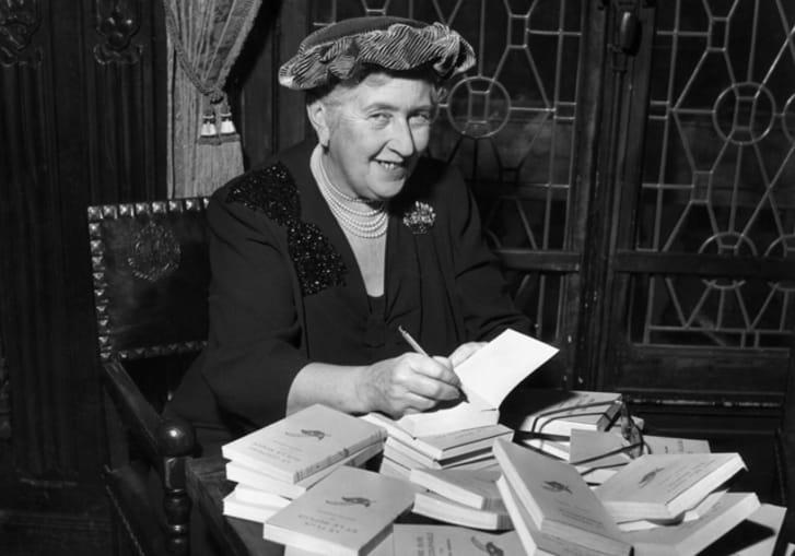 A photo of Agatha Christie