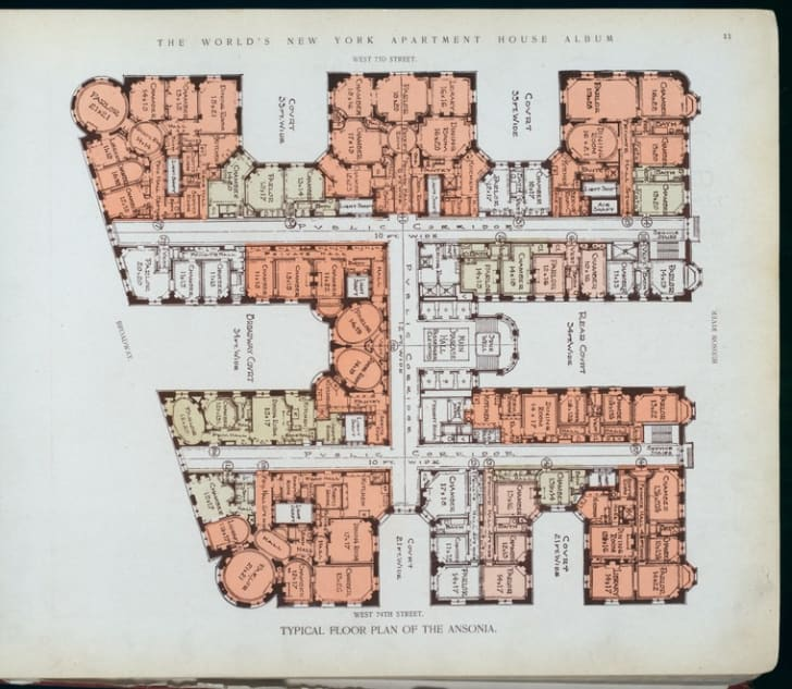 10 Elaborate Floor Plans From Pre World War I New York City Apartments Mental Floss