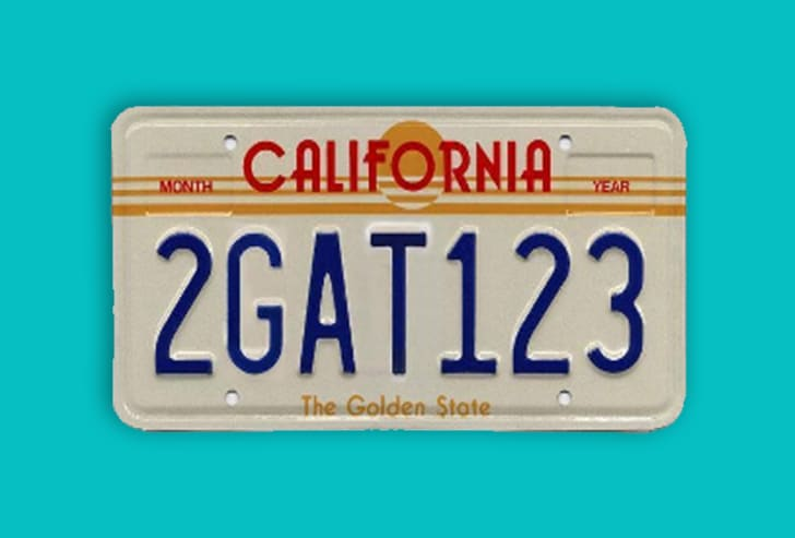 Many films from Beverly Hills Cop II to Training Day, Kiss Kiss, Bang Bang, Role Models, Traffic, Curb Your Enthusiasm, and many more have used and reused the 'California license plate 2GAT123'.15 Props Used In More Than One Movie