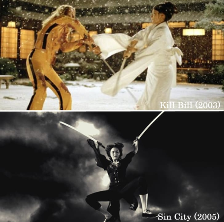 Devon Aoki's character, Miho, in Sin City used 'The Samurai Swords' fashioned by the fictional sword-maker Hattori Hanzo. And later, they were reused by O-Ren Ishii in Kill Bill.15 Props Used In More Than One Movie