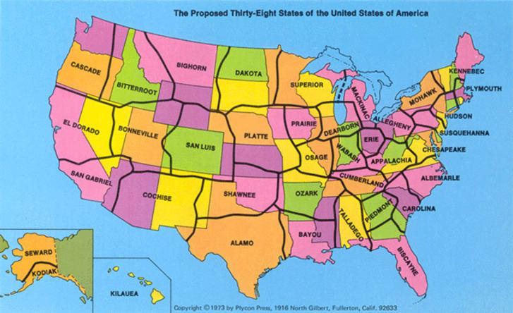 Us Map With State Boundaries The Map With Only 38 States | Mental Floss