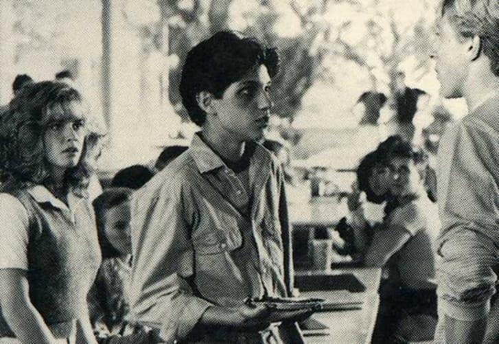 Elisabeth Shue, Ralph Macchio, and William Zabka in The Karate Kid