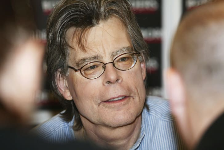 Horror writer Stephen King attends a signing session for his new novel 'Lisey's Story' at Borders bookstore on Oxford Street on November 7, 2006 in London, England