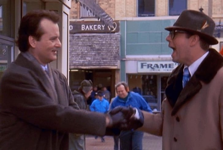 Bill Murray and Stephen Tobolowski in 'Groundhog Day'