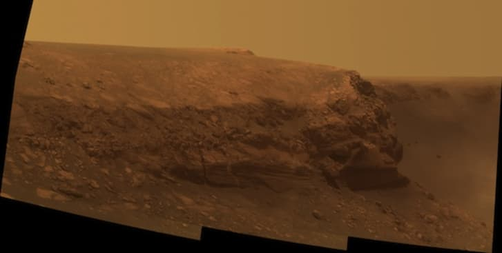 Opportunity rover's photo of Cape Verde