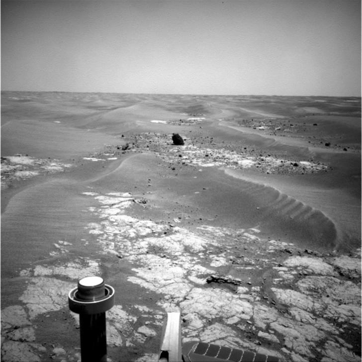 Opportunity rover's photo of Marquette Island
