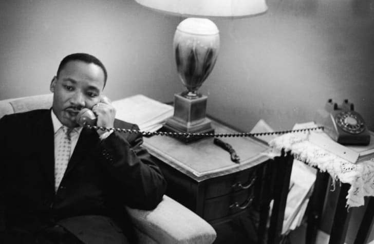 Martin Luther King Jr. on the phone