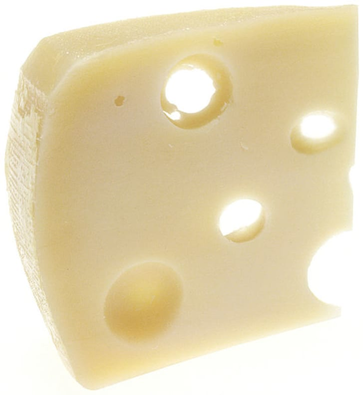 A piece of Swiss cheese
