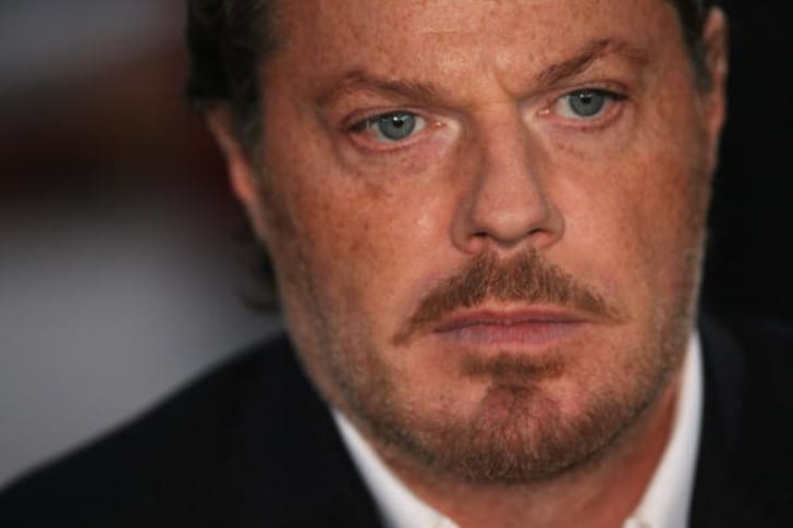 Actor Eddie Izzard arrives at the National Movie Awards at the Royal Festival Hall on September 8, 2008 in London, England