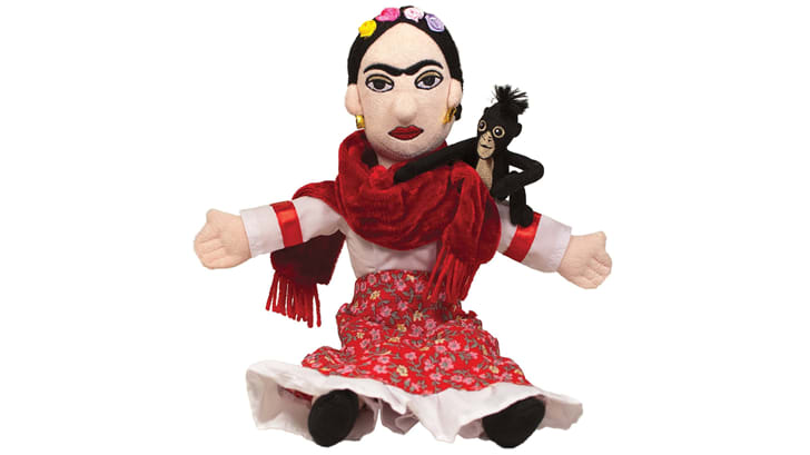 A doll modeled after Frida Kahlo
