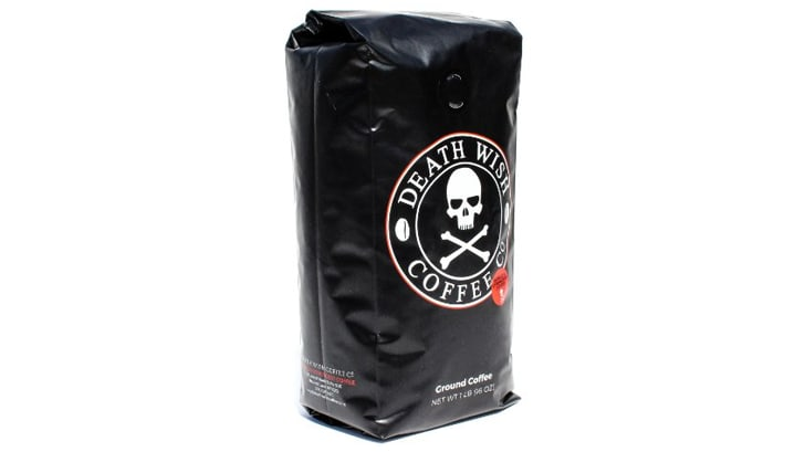 A bag of Death Wish Coffee