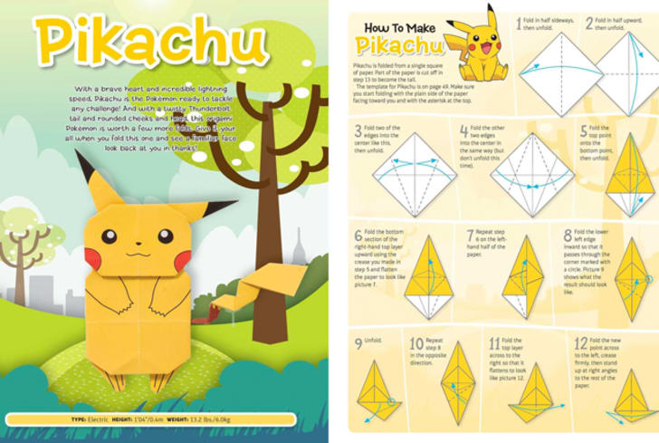 How to Origami a 3D Pikachu creature from Pokémon « Origami ... | 489x728