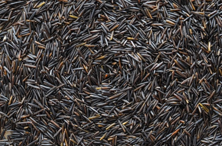 A background made from grains of wild rice