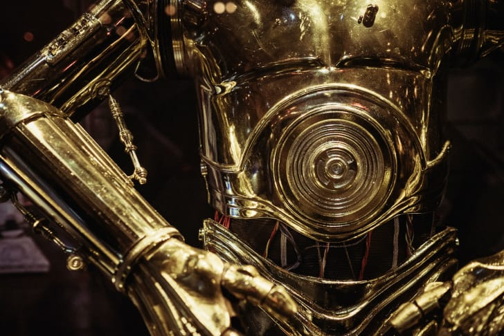 The torso of 'Star Wars' droid C-3PO is pictured