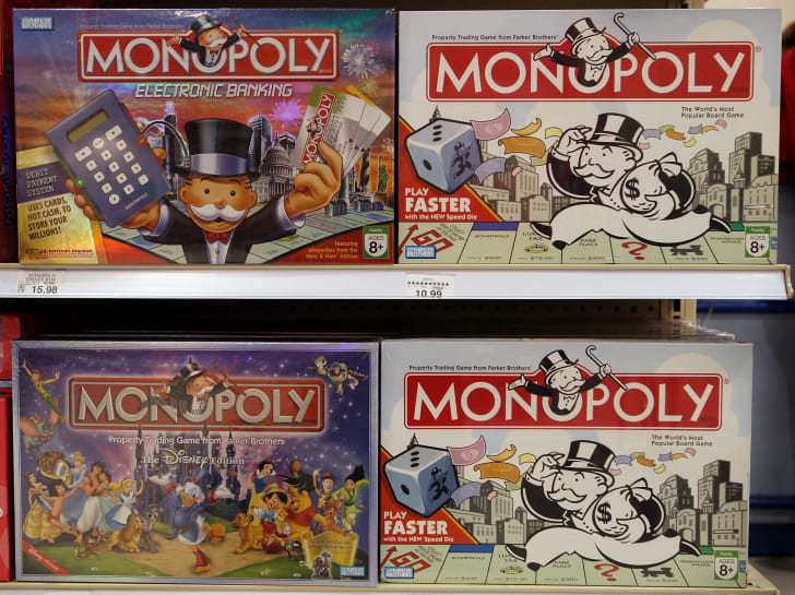 Four Monopoly games.