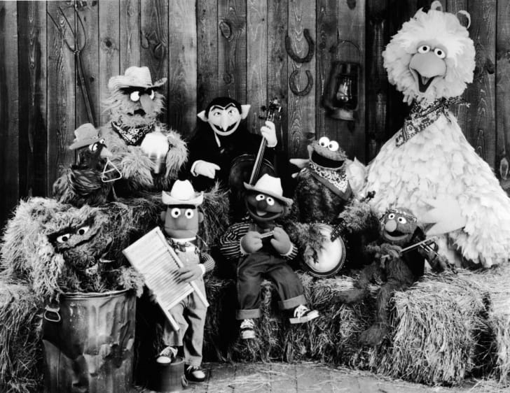 Publicity still of the Sesame Street Muppets taken to promote their record album, 'Sesame Country,' July 1, 1981