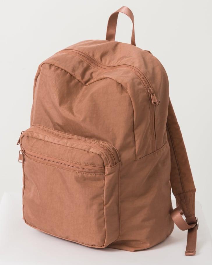 A terracotta backpack