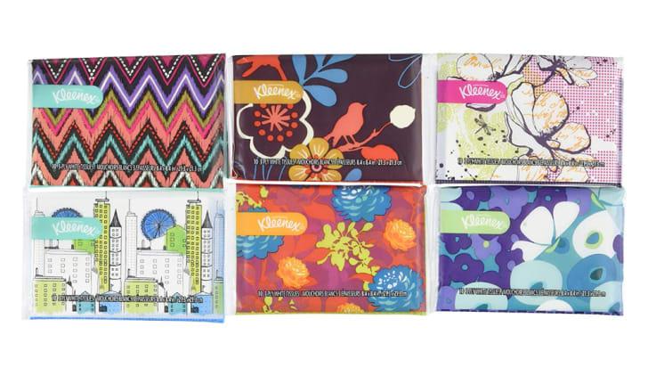 Six Kleenex Slim Packs