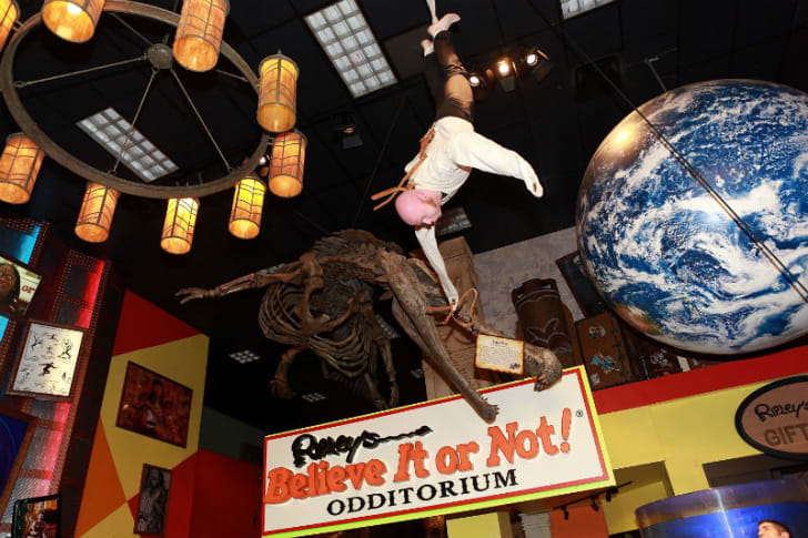 Magician and escape artist Albert Cadabra performs at the Ripley's Believe It or Not! Odditorium in New York in 2013