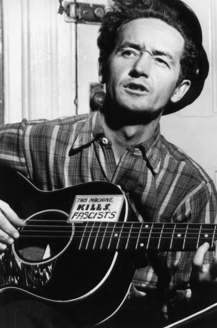 Woody Guthrie, circa March 1943.