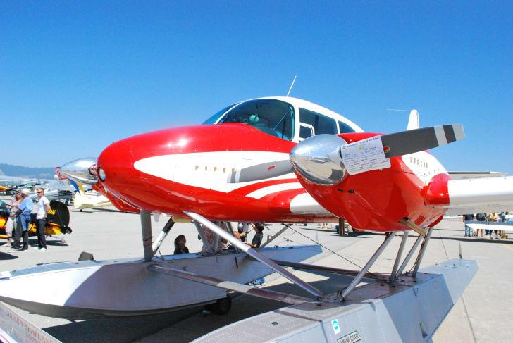a Piper Apache floatplane