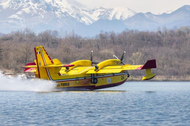 a firefighting seaplane