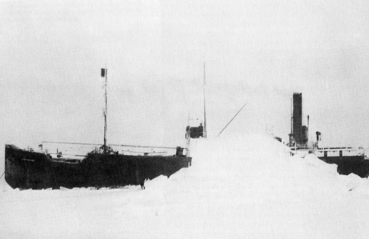 The SS Baychimo somewhere in Canada