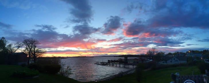 Sunset on Peaks Island, Maine