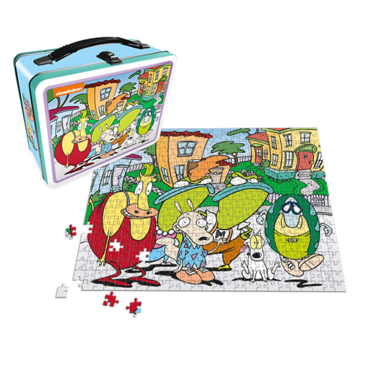 A 'Rocko's Modern Life' lunch box and puzzle