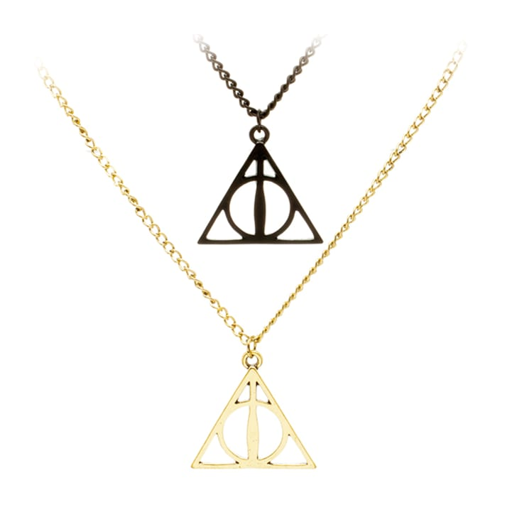 Two Deathly Hallows-themed necklaces