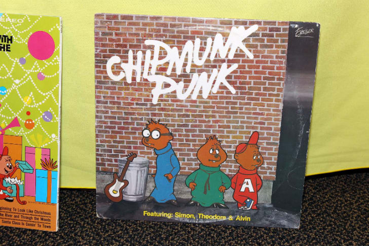 The cover to the 'Chipmunk Punk' album is pictured