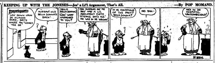 A Keeping Up With the Joneses strip from 1921