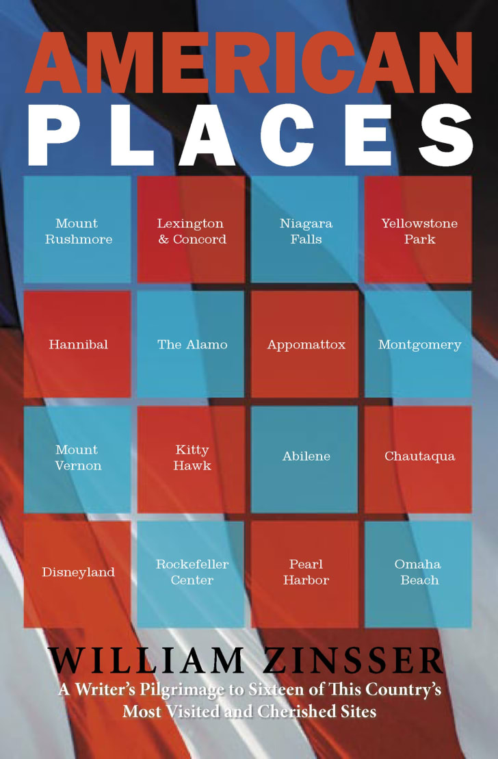 The cover of William Zinsser's book 'American Places.'
