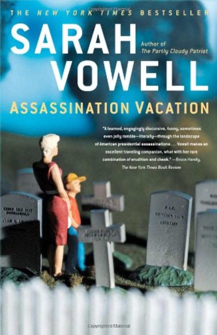 The cover of Sarah Vowell's book 'Assassination Vacation.'