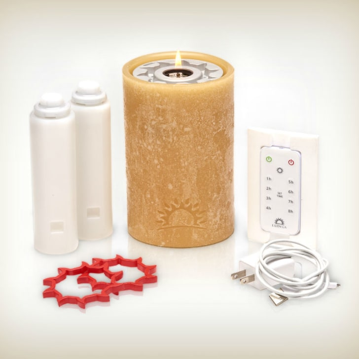 The LuDela Perfect Pillar smart candle starter set