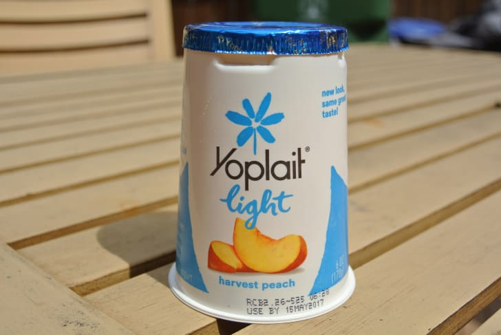 container of Yoplait yogurt