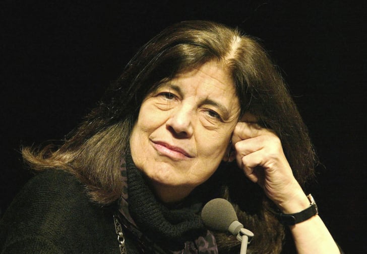 Susan Sontag at an event in Weimar, Germany in 2002
