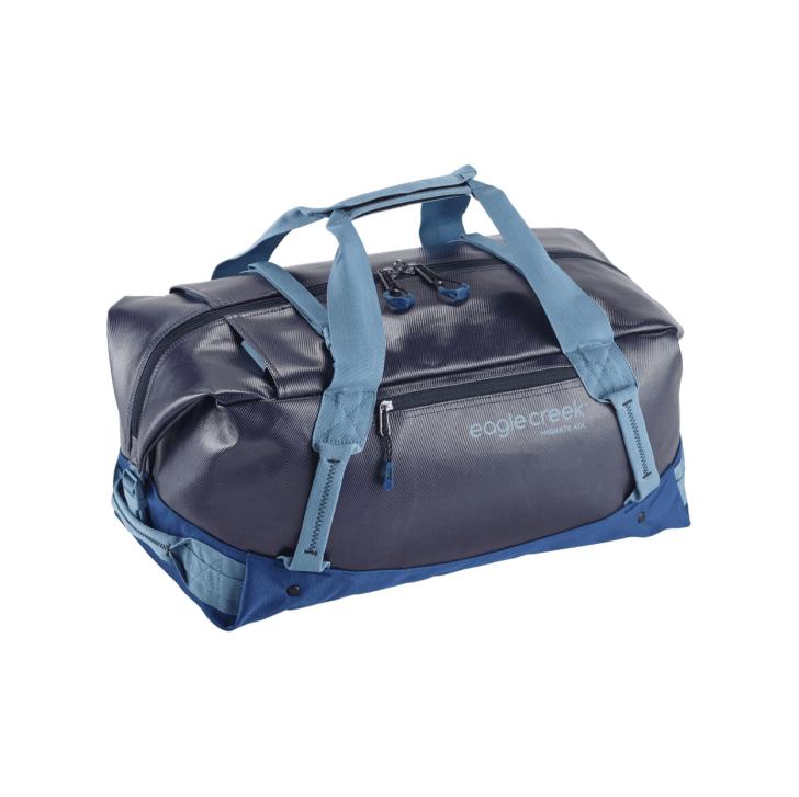 A blue Eagle Creek duffel bag