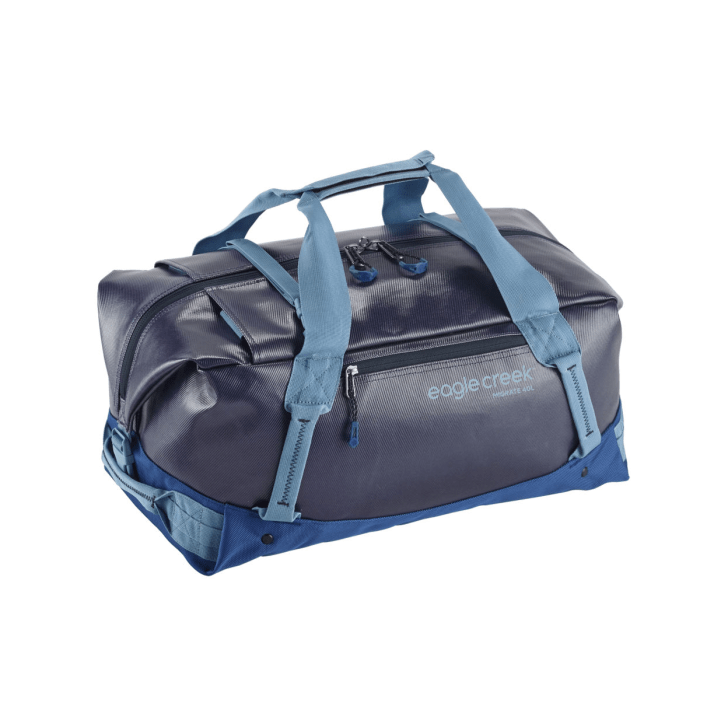 A blue Eagle Creek duffel bag