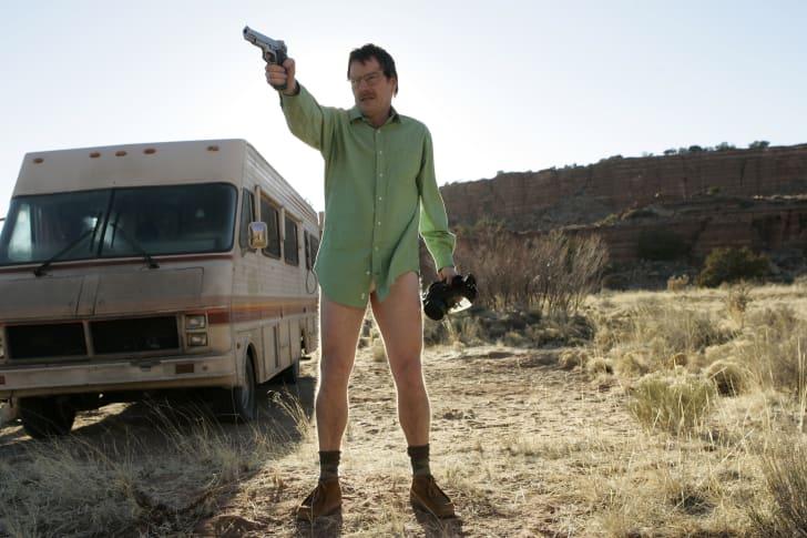 Bryan Cranston in the series premiere of 'Breaking Bad'