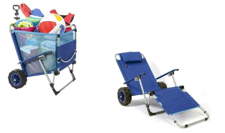 The Mac Sports Beach Day Lounger Combo is pictured