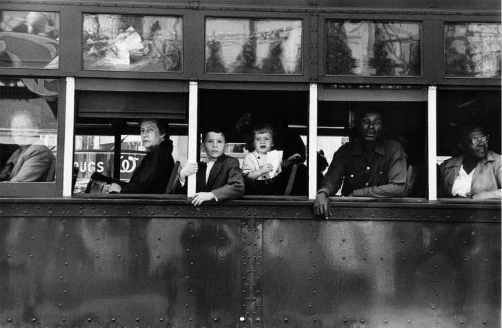 """""""Trolley—New Orleans."""" (The Americans by Robert Frank)"""