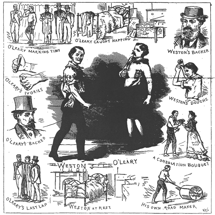 Weston and O'Leary appeared on the front pages of London's Penny Illustrated Paper and Illustrated Times.