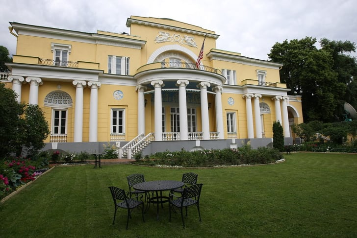 Exterior of Spaso House, residence of U.S. Ambassador in Moscow